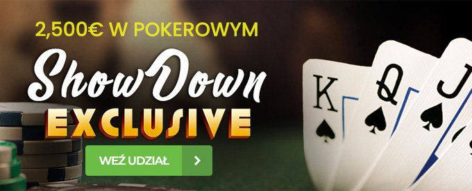 2,500€ w pokerowym Showdown Exclusive Tournament!