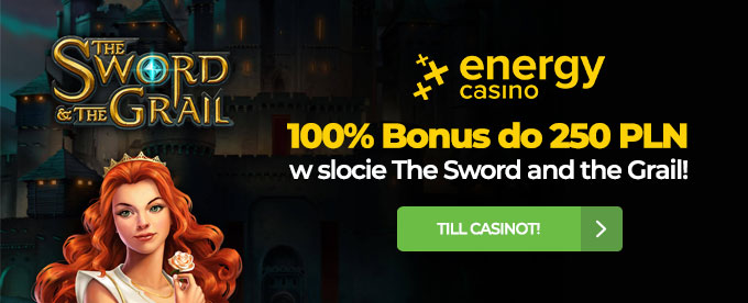 Bonus 100% aż do 250 zł w nowym slocie The Sword and the Grail!